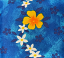 Blue Yellow Floral