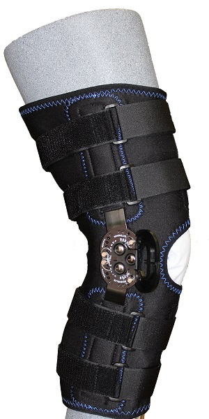 "KC65-HT: 17"" Koolflex Wrap Around Post-OP Brace w/ROM hinge"