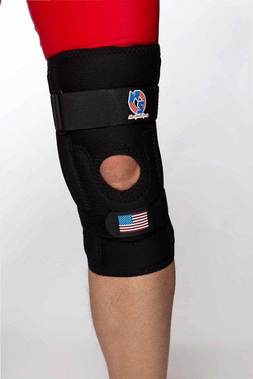 K46 Pull On Patella Knee Sleeve with Positive Control Distal Strap